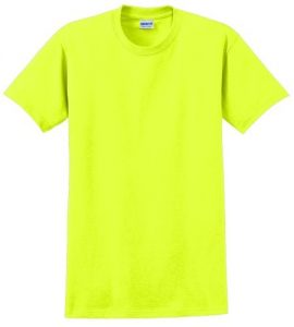 2000 Gildan T-Shirt in Safety Green