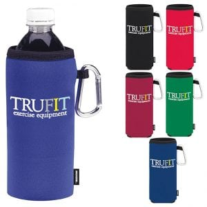 bottle and can cooler with carabiner