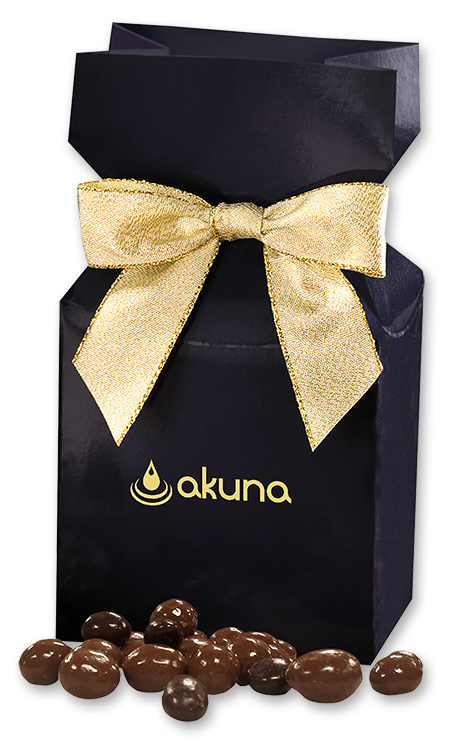 RAHKD-JUJJV Chocolate Covered Peanuts in Navy Gift Box