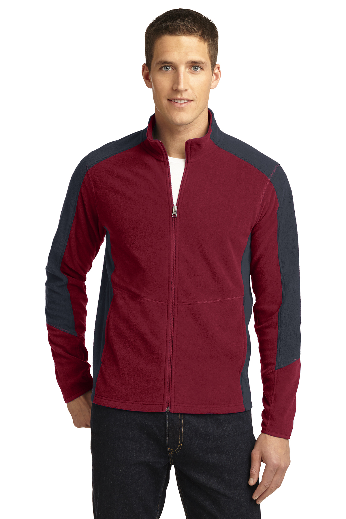 F230 Port Authority Colorblock Microfleece Jacket